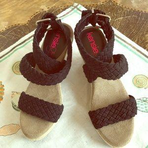 Kensie Girl Black Wedge Sandals